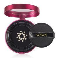 Velvet Creme Veil Cushion