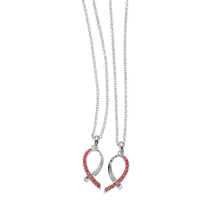 Breast Cancer Share The Love Necklace Set