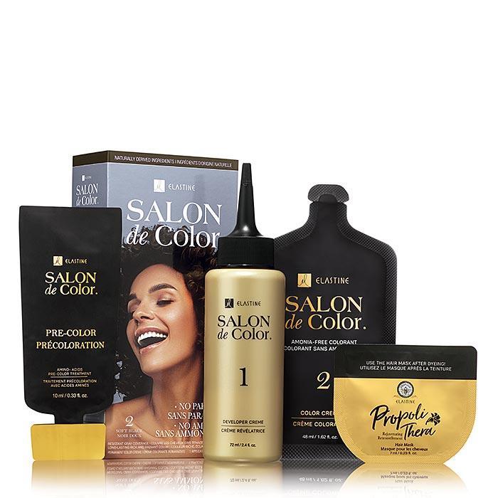 Elastine Salon de Color Permanent Hair Color Kit